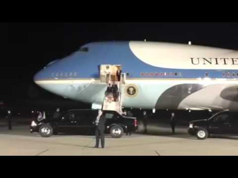 President Obama arrives in San Bernardino 12/18/2015