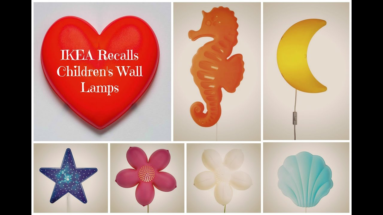 Ikea recalls childrens wall lamps youtube mozeypictures
