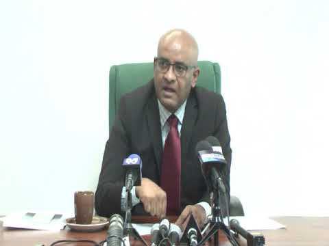 Press Conference by Opposition Leader Dr Bharrat Jagdeo May 9th 2018