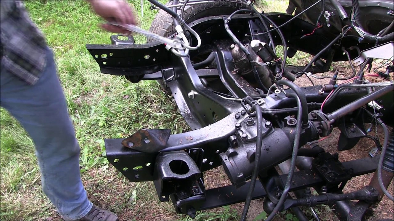 chevy k10 frame reinforcement