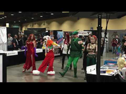 Cosplay Dance Party Jessica Roger Rabbit Green Arrow Long Beach Comic Expo