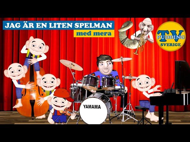 Jag är en liten spelman - med mera | Svenska barnsånger