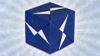 Origami Fasett Sonobe Cube (Maria Sinayskaya)