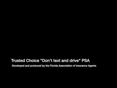"""Trusted Choice Radio PSA """"Don't text and drive"""""""