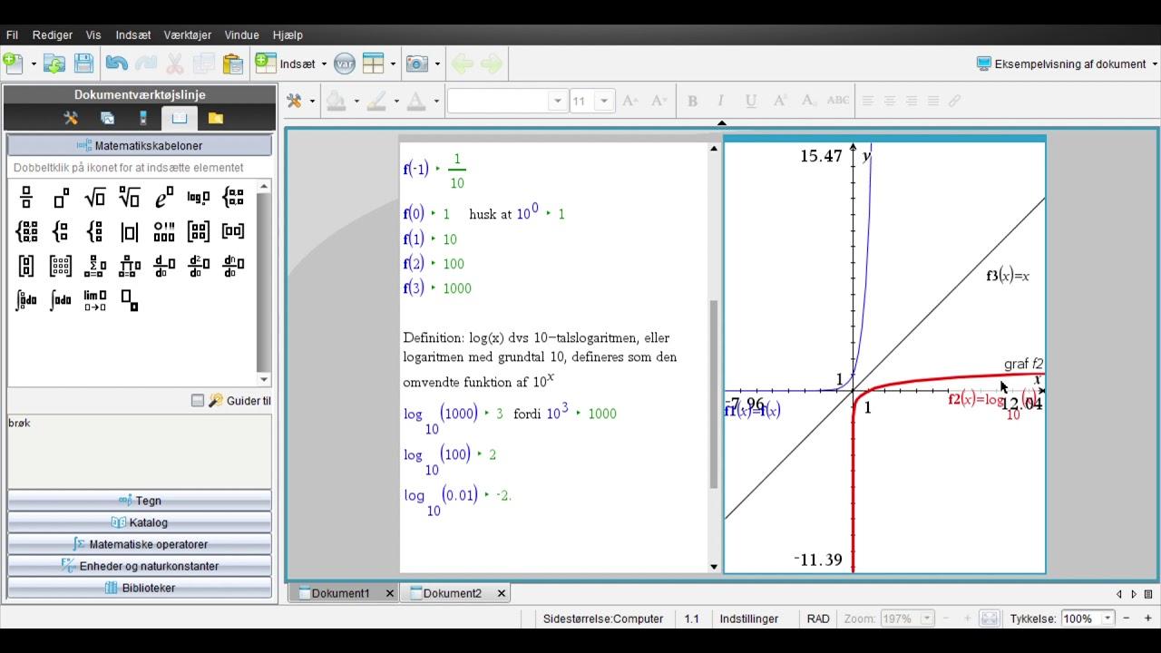 Eksponentielle funktioner del 8: Logaritmefunktioner og eksponentielle ligninger