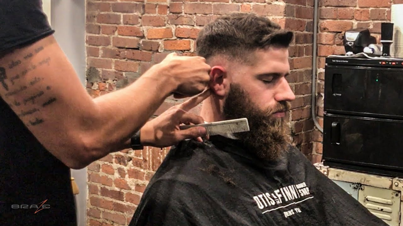 Mid Skin Fade Haircut Beard Trim Video Step By Step Youtube
