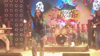 Freddy Poncin - Reggae drummer playing for Ky-Mani Marley  Dubai 2017 - a part of Iron Lion Zion