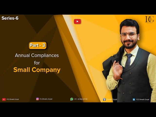 Annual Compliances for Small Companies
