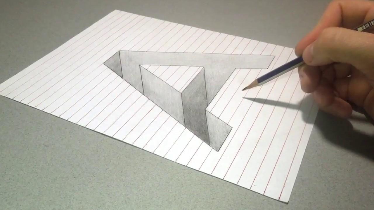 Как нарисовать 3д открытку