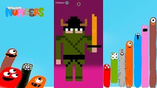 Fun Ninja Part 2 Puzzles - DragonBox: Numbers (iPad, iPhone, Android). Fun game for kids.