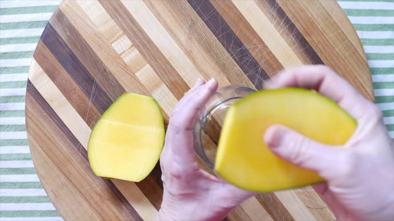 How To Cut A Mango Using A Drinking Glass  The Produce Mom
