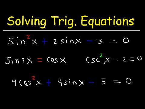 Solving Trigonometric Equations By Factoring & By Using Double Angle Identities