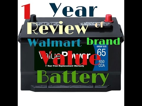 1 Year Review......why Walmart's ValuePower Brand Battery Doesnt Suck..