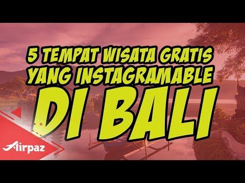 5 Tempat Wisata Gratis Yang Instagramable Di Bali Youtube