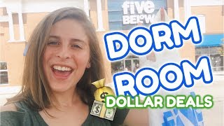 Dorm Room DOLLAR DEALS | Shopping at 5 Below | VLOG
