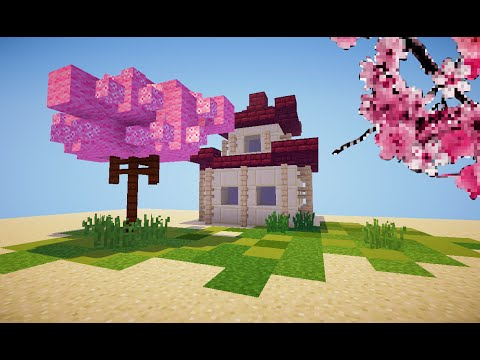 minecraft how to make a japanese cherry tree