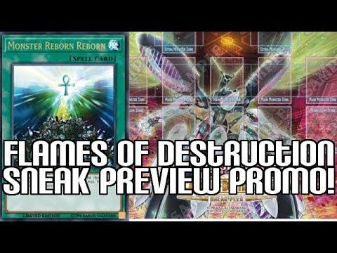 MONSTER REBORN REBORN PROMO! - Flames of Destruction Sneak Preview Promo & Playmat!