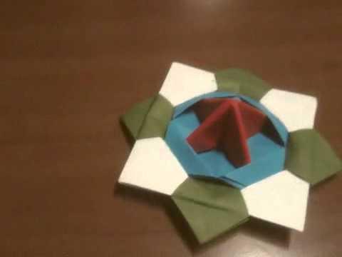 ハート 折り紙 折り紙こま1枚 : youtube.com
