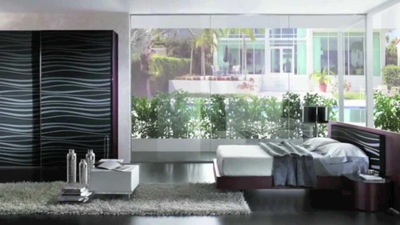 Arredamento camera da letto in stile moderno Glamour by ARTIGIANMOBILI - YouTube