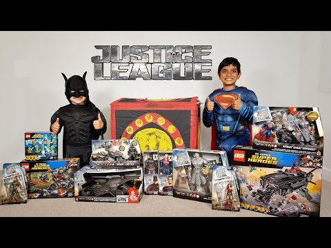 Justice League Movie Giant Toys Surprise Egg Mother Box Unboxing Batman Superman Wonder woman
