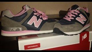 New Balance 574 Rosa y gris imitación / Pink and grey.Fake Unboxing,review. ESPAÑOL
