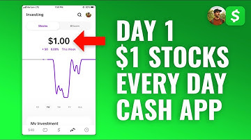 Investing $1 in Stocks Every Day with Cash App - DAY 1