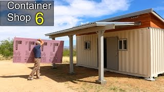 Shipping Container SHOP 6- Insulation, walls, best work pants!