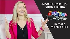 Social Media Marketing Tips:  How To Post On Social Media To Make More Sales