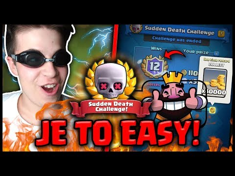 JE TO EAZY! SUDDEN DEATH CHALLENGE! | CLASH ROYALE CZ/SK | OGY