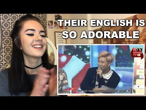 BTS Speaking English Reaction (So adorable!) // ItsGeorginaOkay