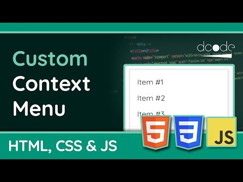 Creating A Custom Context Menu Using HTML CSS & JavaScript | WEB DESIGN