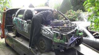 Clio 1 expériance casse moteur sans huile/sans eau 1.2L energy 20 Florian Duhem bangerstox Warneton