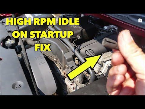 High RPM on start up. Trailblazer 02-09