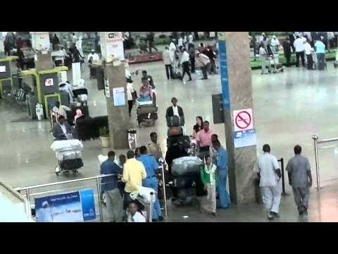 My Arrival on Khartoum, Sudan Airport 10-23-11...