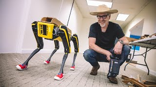Adam Savage Modifies Boston Dynamics Spot's Robot Form!