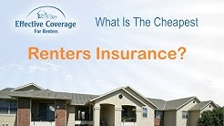 What Is The Cheapest Renters Insurance?