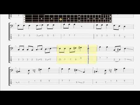 Beatles The While My Guitar Gently Weeps Bass Guitar Tablature Youtube