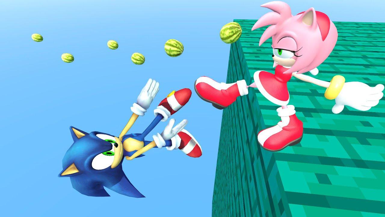 Gmod Ragdolls [Sonic and Amy Rose] vol.1