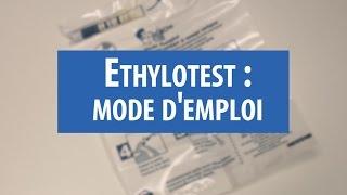 Ethylotest : mode d'emploi