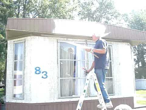 Paint For Mobile Homes Exterior mobile home exterior paint colors painting a interesting remodel 18 Painting The Mobile Home Starting