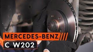 Kaip pakeisti priekiniai stabdžių diskai ir stabdžių kaladėlės MERCEDES BENZ C W202 [PAMOKA AUTODOC]