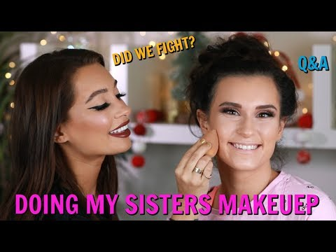 DOING MY SISTERS MAKEUP AND Q&A