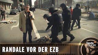 Krawalle! Ralf Kabelka bei der Demo gegen die EZB-Eröffnung