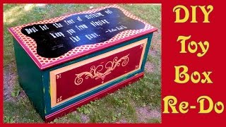 Retro Inspired Toy Box Makeover With Paint!