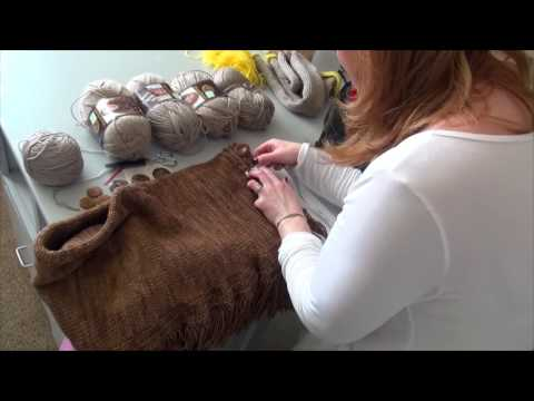 DIY Tutorial: How to Make a Ralph Lauren Fringed Scarf on Addi Express King Size Knitting Machine