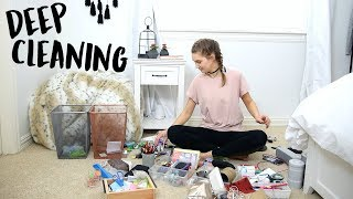 Deep Cleaning My Room (Time Lapse) + BEST Organization Tips!