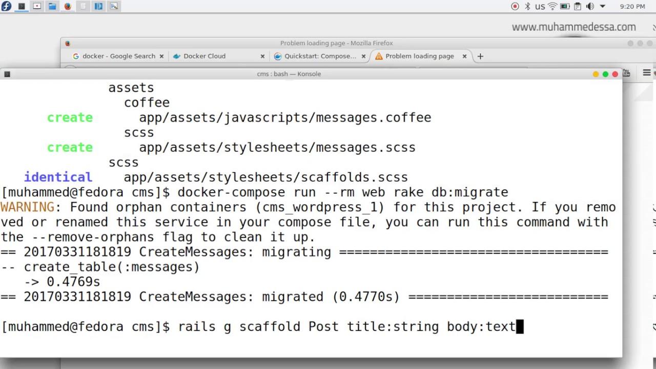 10 Docker with Ruby on Rails postgresql Build, Ship, and Run