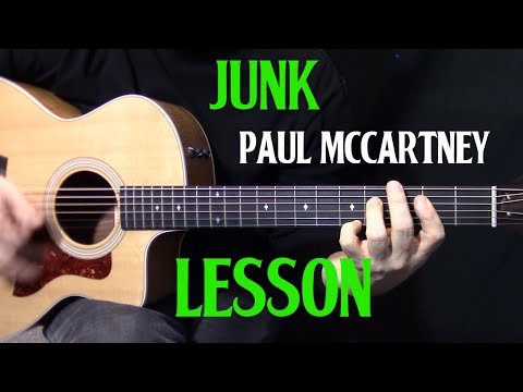 how to play Junk by Paul McCartney on guitar  - acoustic guitar lesson mp3