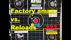 Reloads Vs Factory Store bought .223