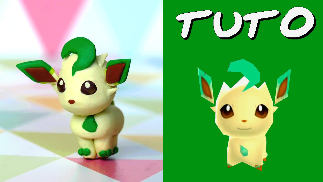 tuto fimo phyllali leafeon de pok mon rumble world youtube. Black Bedroom Furniture Sets. Home Design Ideas